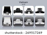 landmarks of vietnam. set of... | Shutterstock .eps vector #269517269