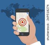 smart phone navigation   mobile ... | Shutterstock .eps vector #269518274