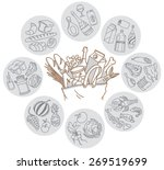 freehand vector sketch. paper... | Shutterstock .eps vector #269519699
