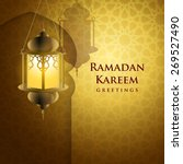 ramadan greetings background....   Shutterstock .eps vector #269527490