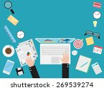 flat design concepts for... | Shutterstock .eps vector #269539274