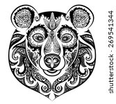 vector black and white bear... | Shutterstock .eps vector #269541344