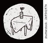 doodle table | Shutterstock . vector #269541974