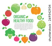 fresh organic food  healthy... | Shutterstock .eps vector #269542934
