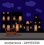 illustration of city scape dark ... | Shutterstock . vector #269552534
