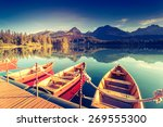 fantastic mountain lake in... | Shutterstock . vector #269555300