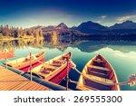 fantastic mountain lake in... | Shutterstock . vector #269555300