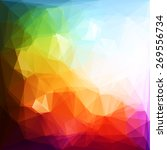 colorful geometric background   ... | Shutterstock .eps vector #269556734