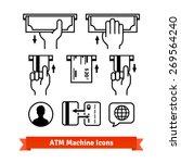 atm machine vector icons set.... | Shutterstock .eps vector #269564240