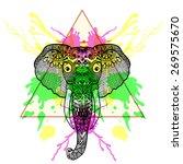 Zentangle Stylized Elephant  I...