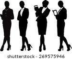 business women in vector | Shutterstock .eps vector #269575946
