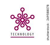 vector logo tech chip star  | Shutterstock .eps vector #269588078
