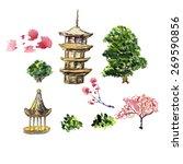 zen temple vector illustration. ... | Shutterstock .eps vector #269590856