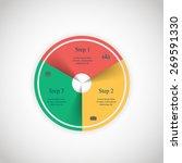 vector circle infographic....   Shutterstock .eps vector #269591330