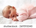 Постер, плакат: new born baby sleeping