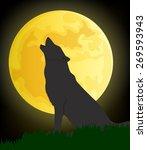wolf moon vector | Shutterstock .eps vector #269593943