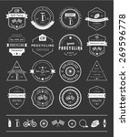 set of badges and logos cycling.... | Shutterstock .eps vector #269596778