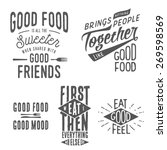 vintage food related... | Shutterstock .eps vector #269598569