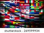 big flag background made of... | Shutterstock .eps vector #269599934