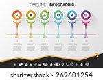 timeline infographic modern... | Shutterstock .eps vector #269601254