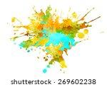 watercolor paint splash | Shutterstock . vector #269602238