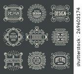 retro design insignias... | Shutterstock .eps vector #269603174