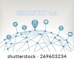 industry 4.0 vector... | Shutterstock .eps vector #269603234