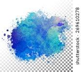 vector watercolor painted blue...   Shutterstock .eps vector #269610278