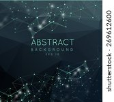 abstract polygonal surface...   Shutterstock .eps vector #269612600