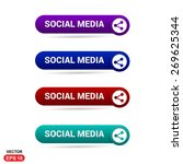 social media button. abstract... | Shutterstock .eps vector #269625344