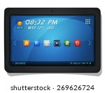digital tablet pc with os icons ...