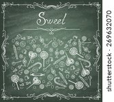 doodle style hard candy set... | Shutterstock .eps vector #269632070
