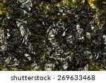 laver seaweed sheet roasted... | Shutterstock . vector #269633468