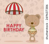 happy birthday design over... | Shutterstock .eps vector #269637386