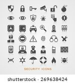 set security icons. file is... | Shutterstock .eps vector #269638424