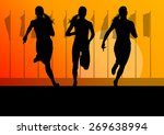woman runner female sprinter... | Shutterstock .eps vector #269638994