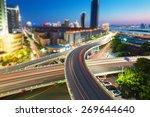 shanghai interchange overpass... | Shutterstock . vector #269644640