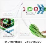 set of abstract geometric... | Shutterstock .eps vector #269645390