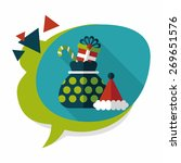 christmas gift flat icon with... | Shutterstock .eps vector #269651576