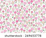 vector seamless cute  floral...