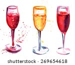 A Set Of Flute Glasses With...