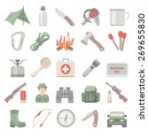 flat icons   hunting and... | Shutterstock .eps vector #269655830