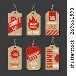 collection of cardboard sales... | Shutterstock .eps vector #269661593