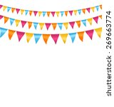 multicolored bright buntings... | Shutterstock . vector #269663774