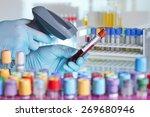 technician hands scanning... | Shutterstock . vector #269680946