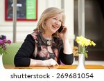 mature beautiful blonde woman... | Shutterstock . vector #269681054