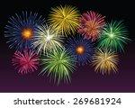 fireworks in the night | Shutterstock .eps vector #269681924
