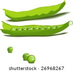 pea pod vegetable | Shutterstock .eps vector #26968267