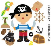pirate vector illustration  | Shutterstock .eps vector #269684564