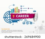 career concept and breakthrough ... | Shutterstock .eps vector #269684900